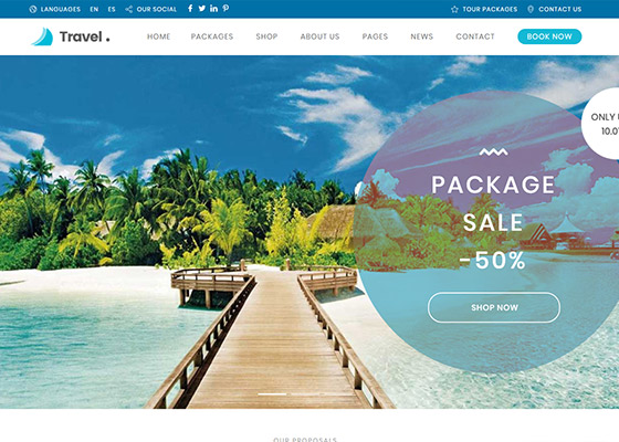 Top 10 WordPress Theme For Travel Agents, Tour Operators and
